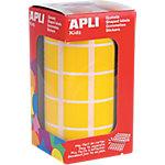 Gomets en rollo Apli Cuadrados amarillo papel 2 (a) x 2 (h) cm 1.770 unidades