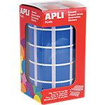 Gomets cuadrados en rollo APLI Azul 1770 etiquetas por paquete