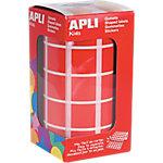 Gomets cuadrados en rollo APLI Rojo 1770 etiquetas por paquete