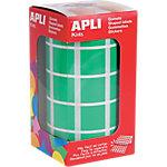 Gomets en rollo Apli Cuadrados verde papel 20mm (Ø) 1.770 unidades