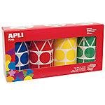 Gomets geométricos en rollo APLI Gigantes Surtido 5428 etiquetas por paquete Paquete de 4