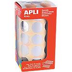 Gomets en rollo Apli Redondos plata papel 20mm (Ø) 1.770 unidades