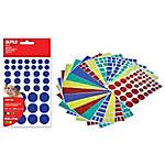 Gomets geométricas APLI Figuras grandes Surtido 468 etiquetas por paquete Paquete de 12