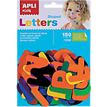 Gomets letras APLI Letras a z Surtido 150 etiquetas por paquete Paquete de 150
