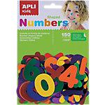 Gomets números APLI Números 0 9 Surtido 150 etiquetas por paquete Paquete de 150
