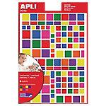 Gomets cuadrados APLI Surtido 756 etiquetas por paquete Paquete de 6