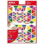 Gomets triángulos APLI Surtido 720 etiquetas por paquete Paquete de 6