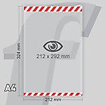 Sistema de fijación Seguridad PosterFix A4 212 (a) x 324 (h) mm Blanco, rojo 2 Unidades
