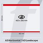 Sistema de fijación PosterFix A3 422 (a) x 324 (h) mm rojo 5 unidades