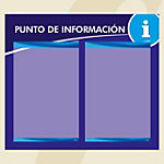 Punto informativo PosterFix A4 Azul 2 Hojas
