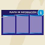 Punto informativo PosterFix A4 Azul 3 Hojas