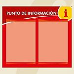 Punto informativo PosterFix A4 Rojo 2 Hojas