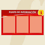 Punto informativo PosterFix A4 rojo 3 hojas