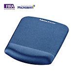 Alfombrilla con reposamuñecas Fellowes Foam Fusion PlushTouch azul 210 (a) x 29 (p) x 279 (h) mm