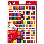 Gomets formas geométricas APLI Surtido 664 etiquetas por paquete Paquete de 6