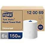 Toalla en rollo Tork Matic Universal 2 capas Paquete de 6