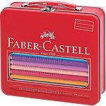 Maletín de metal con lápices de colores Faber Castell Jumbo Grip