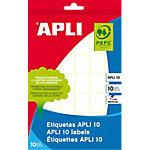 Etiqueta autoadhesiva APLI 22 (a) x 16 (h) mm Blanco 420 Etiquetas