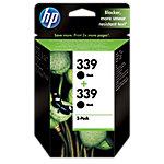 Cartucho de tinta HP original 339 negro c9504ee paquete 2
