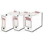 Caja archivo definitivo Folio+ blanco, rojo cartón 11,5 (a) x 27,5 (h) x 39 (p) cm 50 cajas