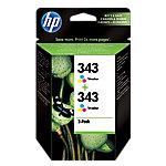 Cartucho de tinta HP original 343 3 colores cb332ee paquete 2