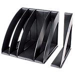 Organizador vertical CEP negro poliestireno 30 (a) x 22 (p) x 22 (h) cm