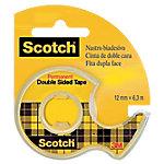 Cinta adhesiva de doble cara Scotch 655 transparente 6m (l) x 1,2cm (a) x 1,2cm (h)