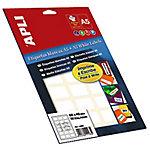 Etiqueta adhesiva APLI 1650 blanco 12 (a) x 18 (h) mm 1650 etiquetas por paquete
