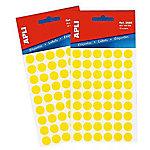Etiqueta adhesiva redonda APLI 2051 Amarillo 315 etiquetas por paquete Paquete de 5
