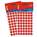 Etiqueta adhesiva redonda APLI 2053 Rojo 315 etiquetas por paquete Paquete de 5