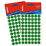 Etiqueta adhesiva redonda APLI 2054 Verde 315 etiquetas por paquete Paquete de 5