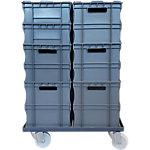 Caja apilable de plástico Viso polipropileno 420 (a) x 620 (p) mm gris