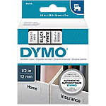 Cinta para rotuladora DYMO 45013 negro sobre blanco 12mm (a) x 7m (l)