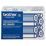 Cinta de transferencia térmica Brother Original PC204RF Negro 4 Unidades