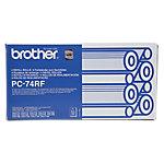 Cinta para impresora Brother original PC74RF negro 4unidades
