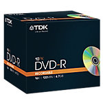 Pack 10 DVD R 47 GB Slim case TDK