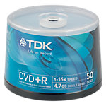 Spindle 50 DVD R 47 GB TDK