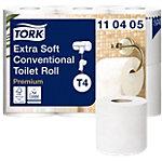 Rouleaux de papier toilette Tork Premium 4 épaisseurs Blanc   42 Rouleaux