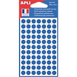 Pastilles adhésives AGIPA Apli 8mm (ø) Bleu 462 étiquettes   462