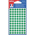 Pastilles adhésives AGIPA Apli 8mm (ø) Vert 462 étiquettes   462 Pastilles