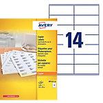Étiquettes Avery DP143 100 Blanc 1400 étiquettes   100