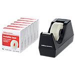 Dévidoir et 6 rouleaux adhésifs invisibles Office Depot 19mm (l) x 33m (L) Noir