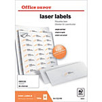 2400 Etiquettes laser coins arrondis   Office DEPOT   64 x 33,9 mm