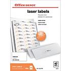 Étiquettes Office Depot Blanc 2400 étiquettes   100 feuilles de 24 étiquettes