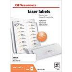 1600 Etiquettes laser coins arrondis   Office DEPOT   99,1 x 33,9 mm