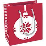 Sac cadeau Papier Décorations de Noël Clairefontaine 14cm (H) x 15cm (l) Assortiment