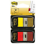 Index repositionnables Post it I680 4,32 (H) x 2,54 (l) cm Rouge, jaune