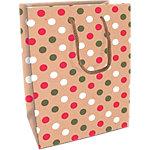 Sac cadeau Papier Polka Clairefontaine 25cm (H) x 19cm (l) Assortiment