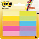 Index repositionnables Post it 670 10AB 4,44 (H) x 1,27 (l) cm Assortiment   10 blocs