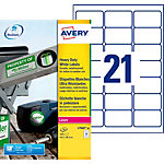 420 Etiquettes ultra résistante en polyester   Avery   63,5 x 38,1 mm